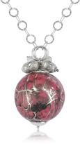 Forzieri Naoto Alchimia - Sterling Silver Fuchsia Pendant Necklace