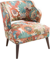 Asstd National Brand Lynn Armless Floral-Print Mod Chair