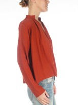 Apiece Apart Rust Shirred Georgia Top