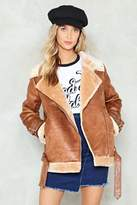 Nasty Gal nastygal What Are You Waiting Fur Aviator Jacket