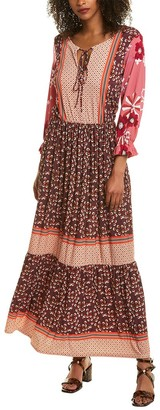 Melissa Masse Tie-Front Maxi Dress