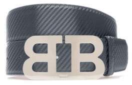 Bally Mirror B 45 Carbon Leather Belt