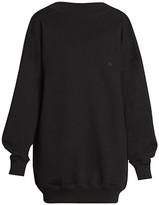 Balenciaga Cristobal Draped Back Sweater Dress