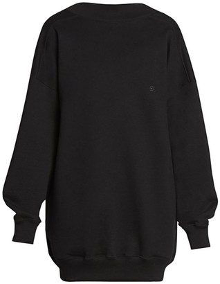 Balenciaga Cristobal Draped Back Sweater Dress