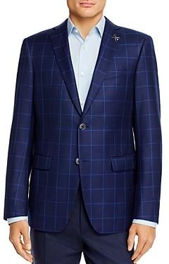 John Varvatos Bleecker Windowpane Plaid Slim Fit Sport Coat