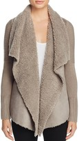 Bagatelle Faux Shearling Knit Jacket