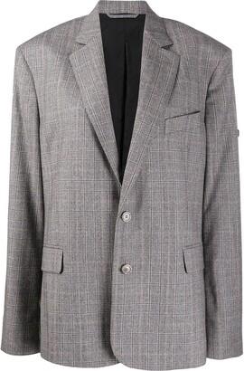 Balenciaga Checked Single-Breasted Blazer