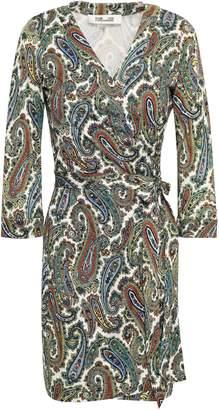 Diane von Furstenberg Julian Leopard-print Silk-jersey Mini Wrap Dress