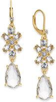 Kate Spade 14k Gold-Plated Crystal Drop Earrings