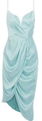 Zimmermann Asymmetric Wrap-effect Washed-silk Dress