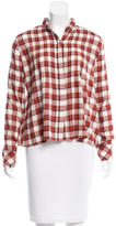 Current/Elliott Gingham Button-Up Top w/ Tags