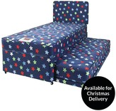 Airsprung Kids Stars And Butterflies Single Divan With Trundle Guest Bed And FREE Headboard