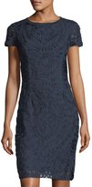 JS Collections Soutache-Embroidered Sheath Dress