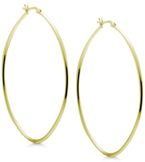 Essentials Extra Large Skinny Oval Large Hoop Earrings in Gold-Plate