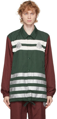 Undercover Green and Burgundy Graphic Pattern Jacket
