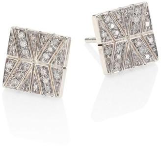 John Hardy Modern Chain Diamond & Sterling Silver Stud Earrings