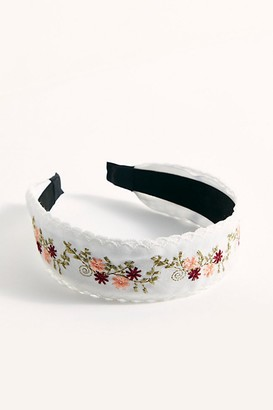 Free People Embroidered Wide Flat Headband