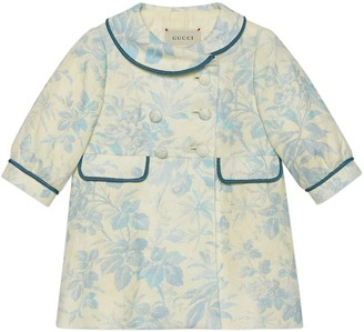 Gucci Baby ivy and flower linen coat