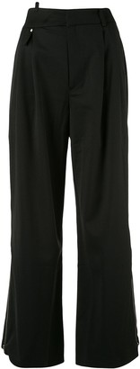 Ader Error Wide-Leg High-Rise Trousers