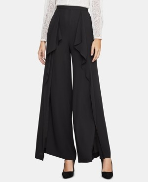 BCBGMAXAZRIA Jackie Draped Slit Wide-Leg Pants