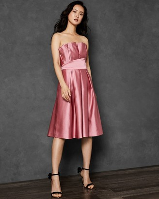Ted Baker Pleated Bodice Full Skirt Dress