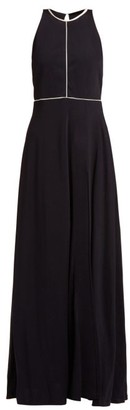 ODYSSEE Valencay Open-back Jersey Maxi Dress - Navy