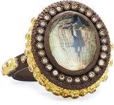 Armenta Old World Carved Mother-of-Pearl, Smokey Quartz & Diamond Ring