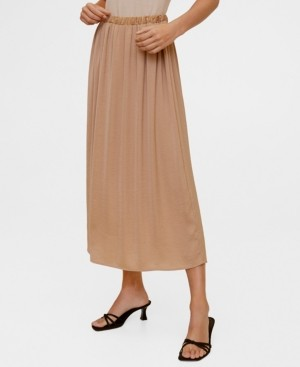 MANGO Flowy Midi Skirt