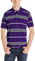 U.S. Polo Assn. Men's Multi-Stripe Pique Polo Shirt