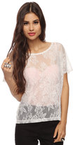 Style deals Boxy Lace Top