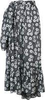 Lisa Marie Fernandez floral print asymmetric skirt