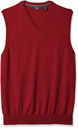 Izod Men's Big and Tall Premium Essentials V-Neck Sweater Vest