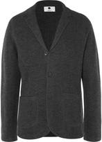 NN07 Grey Wallace Slim-Fit Unstructured Boiled Wool Blazer