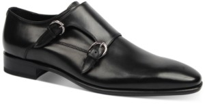 Roberto Cavalli Men's Plain-Toe Double Monk Strap Loafers Men's Shoes