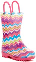 Capelli of New York Colorful Chevron Print Rain Boot (Toddler)
