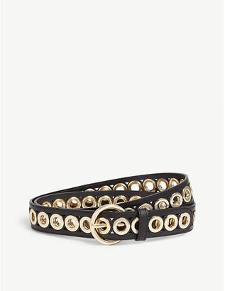 Sandro Adelia studded leather belt