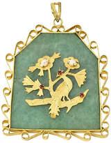 One Kings Lane Vintage Large Asian-Motif Bird & Floral Pendant