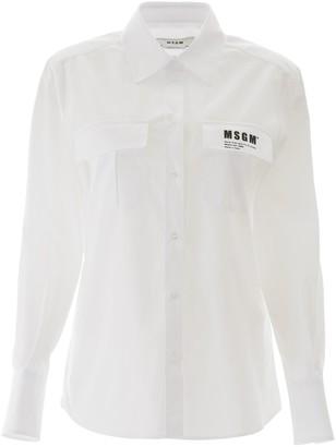 MSGM Logo Flap Pocket Shirt