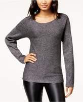 Bar III Twisted Open-Back Metallic Sweater, Created for Macy's
