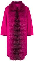 Ermanno Scervino fur trim coat - women - Angora/Wool - 42