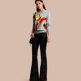 Burberry Floral Intarsia Merino Wool Sweater