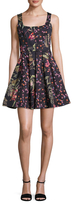French Connection Bluhm Botero Print Flared Dress