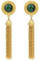 Ben-Amun Gypset Malachite Tassel Earrings