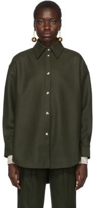 Acne Studios Green Flannel Sarwin Shirt