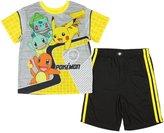 Pokemon Boys 2 Piece Shorts Poly Pajama Set (Large 10/12)