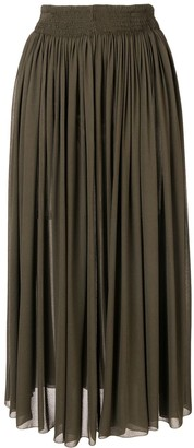 Rochas Gathered Midi Skirt