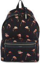 Saint Laurent Flamingo print canvas backpack