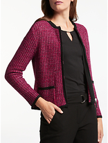 Gerry Weber Boucle Style Cardigan, Red Fuchsia