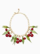 Kate Spade Ma chérie cherry statement necklace