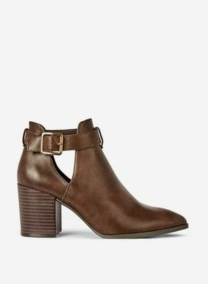 Dorothy Perkins Womens Chocolate 'Absin' Cut Out Ankle Boots, Chocolate